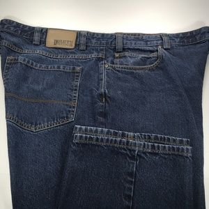 Duluth Trading Mens Blue Jeans 42 to 44×34